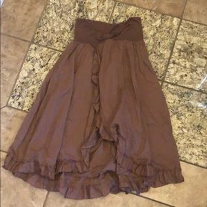 Charlotte Russe Brown Breezy Skirt